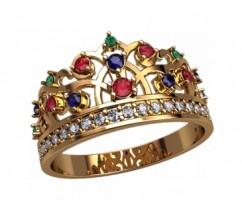 Женское кольцо уникальное артикул: 2876 Корона