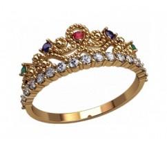 Женское кольцо уникальное артикул: 2878 Корона