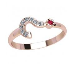 Женское кольцо индивидуальной обработки артикул: 2127