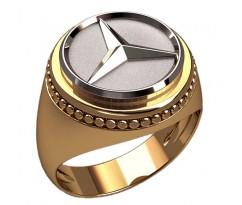 Кольцо для мужчин качественной, ручная работа артикул: 3376 Мерседес