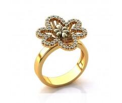 Эксклюзивное кольцо женское, ручная работа art: А009