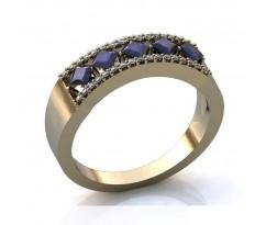 Эксклюзивное кольцо женское, ручная работа art: А052
