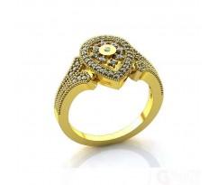 Эксклюзивное кольцо женское, ручная работа art: А069