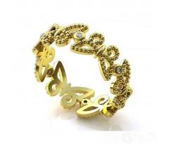 Эксклюзивное кольцо женское, ручная работа art: А153
