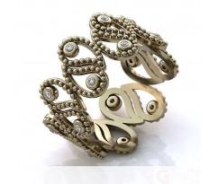 Эксклюзивное кольцо женское, ручная работа art: А154