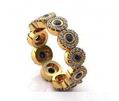 Эксклюзивное кольцо женское, ручная работа art: А157