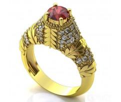Эксклюзивное кольцо женское, ручная работа art: А367