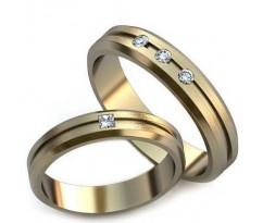 Уникальные парные обручальные кольца арт: art: AU003