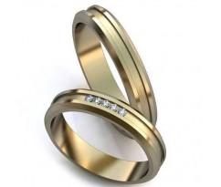 Уникальные парные обручальные кольца арт: art: AU005