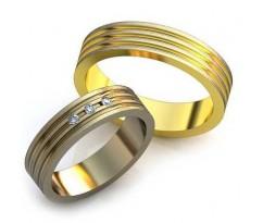 Уникальные парные обручальные кольца арт: art: AU006