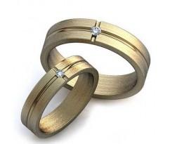Уникальные парные обручальные кольца арт: art: AU007