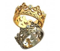 Кольца на свадьбу парные art: AU114 Короны