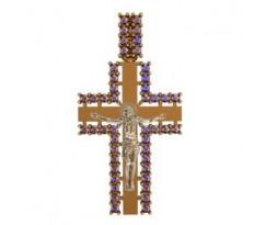 Крест (ладанка) авторская, ручная работа артикул: 410030