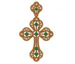 Крест (ладанка) авторская, ручная работа артикул: 410060