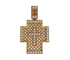 Крест (ладанка) авторская, ручная работа артикул: 410110