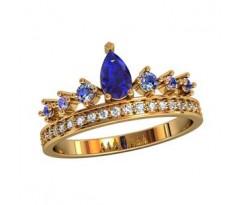 Женское кольцо уникальное артикул: 2011130 Корона
