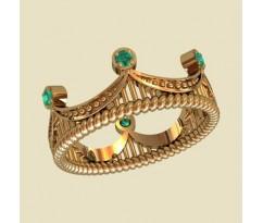 Женское кольцо уникальное артикул: 10142 Корона
