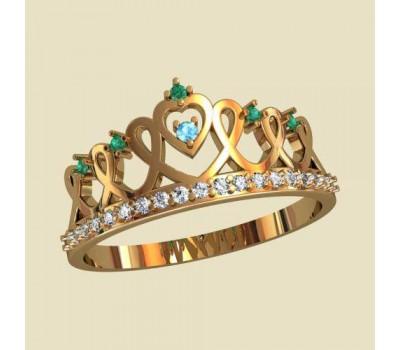 Женское кольцо уникальное артикул: 10144 Корона