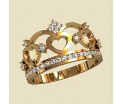 Женское кольцо уникальное артикул: 10164 Корона