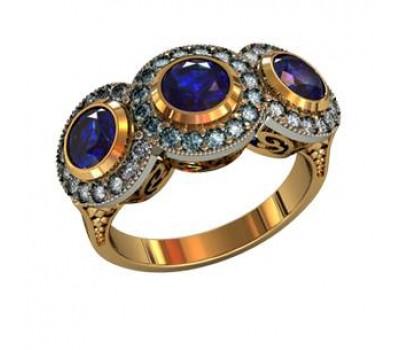 Перстень женский, ручная работа art: 000360