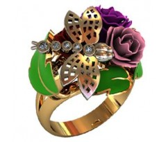Перстень женский, ручная работа art: 000430