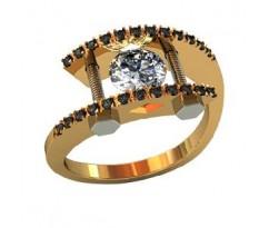 Эксклюзивное кольцо женское, ручная работа art: 000500