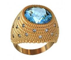 Перстень женский, ручная работа art: 000840