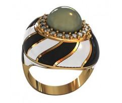Перстень женский, ручная работа art: 000880