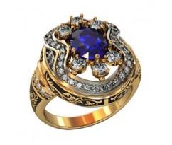 Эксклюзивное мужское кольцо art: 001510