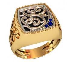 Эксклюзивное мужское кольцо art: 002160