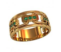 Женское кольцо индивидуальной обработки артикул: 210040