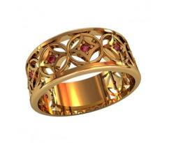 Женское кольцо индивидуальной обработки артикул: 210050