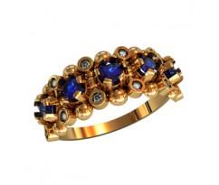 Женское кольцо индивидуальной обработки артикул: 210330