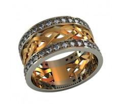 Эксклюзивное кольцо женское, ручная работа артикул: 000040W