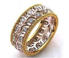 Эксклюзивное кольцо женское, ручная работа артикул: 001450W