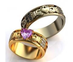 Кладдахские кольца обручальные с камнями