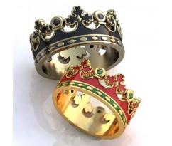 Кольца на свадьбу парные art: AU031 Короны
