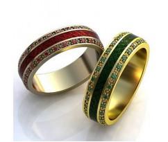 Авторские кольца на свадьбу  art: AU028