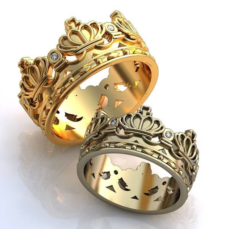 кольцо корона мужское