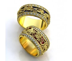 Авторские кольца на свадьбу  art: AU033