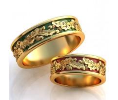Авторские кольца на свадьбу  art: AU027