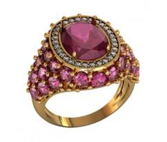 Эксклюзивное кольцо женское, ручная работа art: 000590