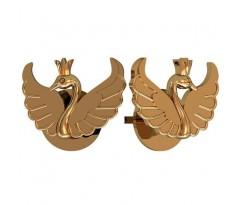 Серьги пусеты женские, ручная работа артикул: 1006 Лебеди
