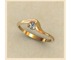 Женское кольцо индивидуальной обработки артикул: К1333