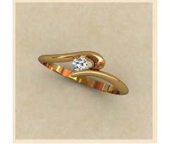 Женское кольцо индивидуальной обработки артикул: К1334
