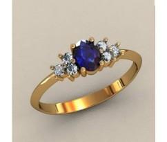 Женское кольцо индивидуальной обработки артикул: К1607