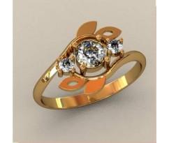 Женское кольцо индивидуальной обработки артикул: К1608