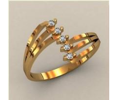 Женское кольцо индивидуальной обработки артикул: К1630