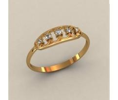 Женское кольцо индивидуальной обработки артикул: К1755