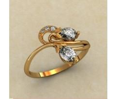 Женское кольцо индивидуальной обработки артикул: К1765